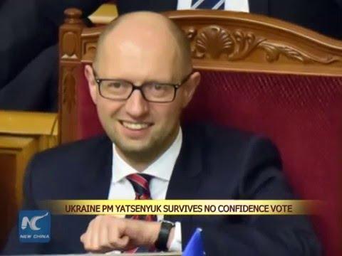 Ukraine PM Yatsenyuk survives no confidence vote