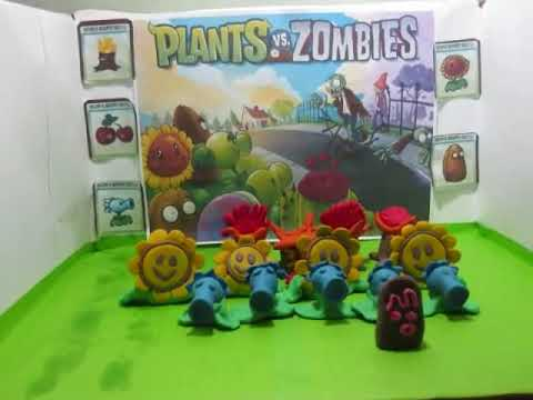 Plants Vs Zombies: There's a Zombie on Your Lawn (Claymation)