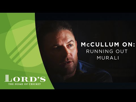 Brendon McCullum on running out Murali | 2016 Cowdrey Lecture