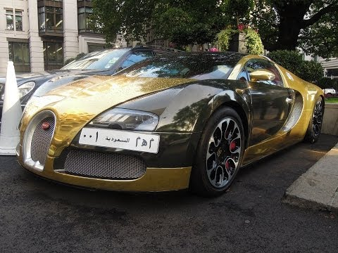 Chrome gold Bugatti Veyron Grand Sport from Saudi-Arabia