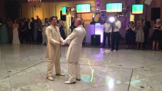 MY BEST FRIENDS WEDDING Spectacular Gay Wedding Entrance and Hysterical First Dance