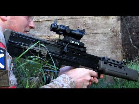 Airsoft War L85. KWA Glock 19. Section8 Scotland HD
