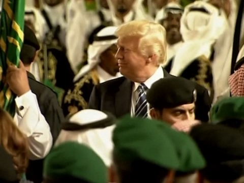 Trump Welcomed with Sword Dance at Saudi Palace