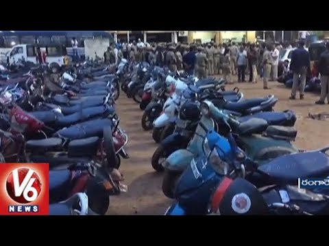 Police Conducts Cordon Search Operation In Upparapalli Happy Homes | Seizes 163 Vehicles | V6 News