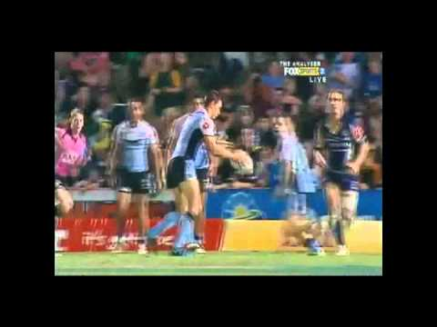 Highlights from the Rd 16 NRL match between the North Queensland Cowboys and the Cronulla Sharks at Dairy Farmers Stadium. After 5 missed attempts at field g...
