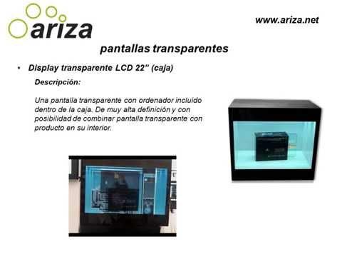 Pantallas transparentes - Ariza