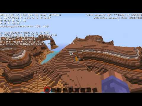 Awesome mesa biome spawn, stronghold, mesa plateau Minecraft seed 1.7.10