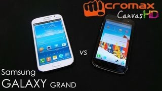 Samsung Galaxy Grand Vs Micromax Canvas HD A116  - Comparison and Review - Cursed4Eva com