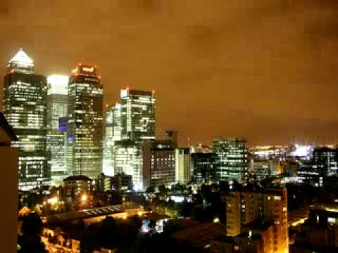 London skyline time-lapse