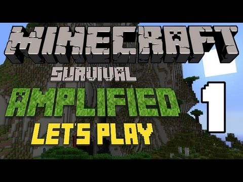 Minecraft Lets Play AMPLIFIED Survival Episode 1: Planning Ahead Pilot