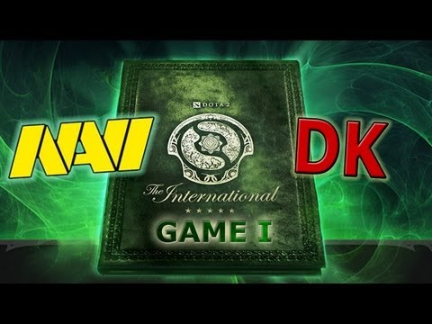 The International 3. Na`Vi vs DK game 1. Болеем за наших вместе с Dota Discovery
