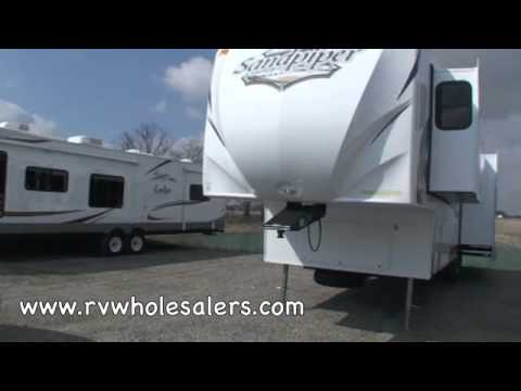 2010 Sandpiper 345RET Fifth Wheel RV Camper From RVWholesalers 024842 - Brass