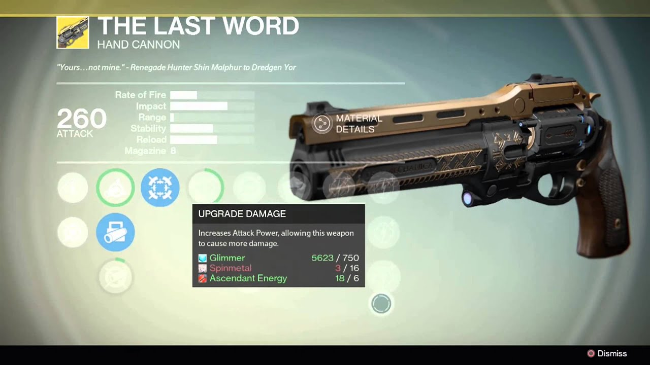 Destiny- The Last Word Handcannon - YouTube