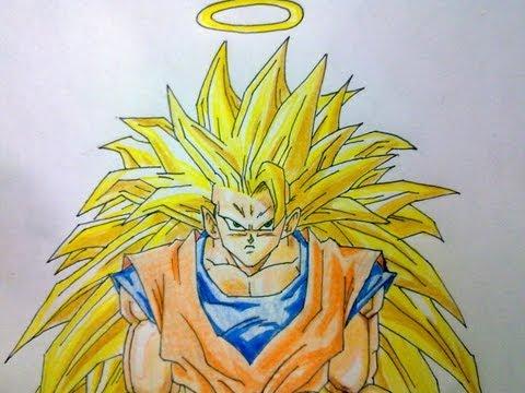 Como dibujar a Goku SSJ3 paso a paso