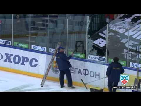 KHL: Fedor Fedorov's Glass Breaker (video)