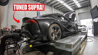 HOW MUCH POWER CAN A TUNED A90 2020 SUPRA MAKE?! *NO MODS*
