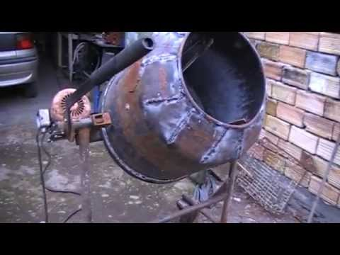 Homemade Concrete Mixer First Test Youtube