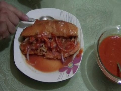 CHUCHEMAN  como hacer tortas ahogadas - How to make Mexican sandwich