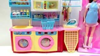 máy giặt cho búp bê   cửa hàng giặt ủi của búp bê barbie