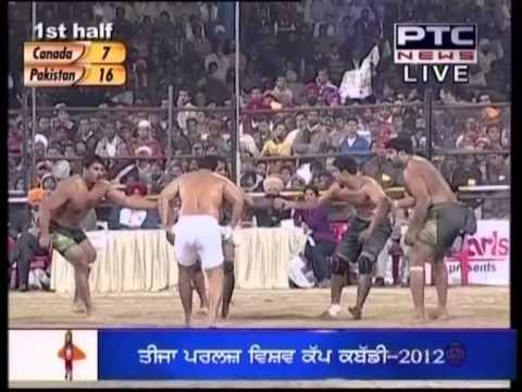 3rd World Cup Kabaddi 12th Dec 2012  Canada Vs Pakistan  Semi Final Part 1.mpg video