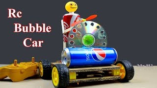 WOW ! How to Make  A Simple Rc Car with Bubble Machine  - DIY Toy Car From Cardboard