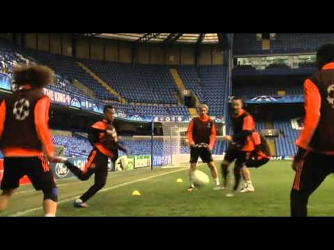 Chelsea 2-1 Benfica (agg 3-1) Pre Match Training