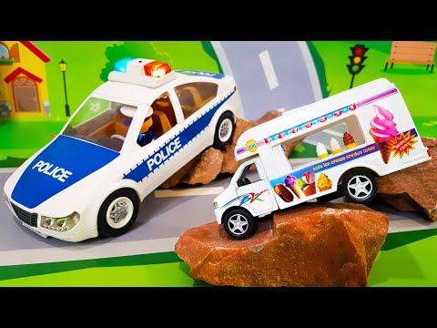 Мультики про машинки все серии. Полицейские машинки и Фургон с мороженным. Новые ЛЕГО мультфильмы