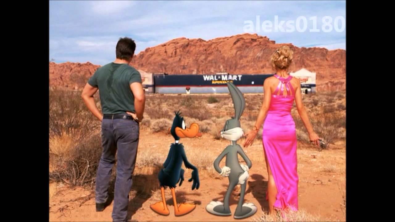 looney tunes back in action casino scene desert