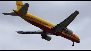 *RARE* DHL (Air Transport International) Boeing 757-200F Landing LAX