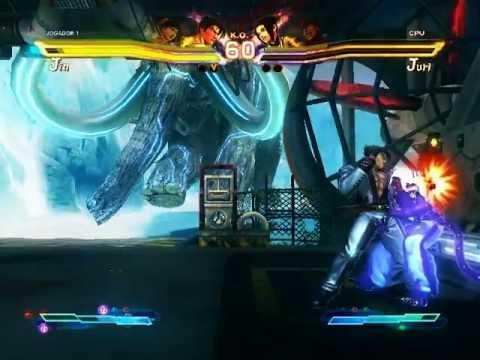 Street Fighter x Tekken Jin e Xiao últimas lutas e ending
