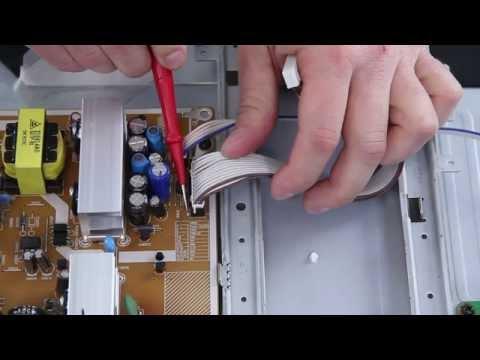 Como reparar / arreglar una LCD TV Samsung con ningún poder- ayuda Standby subtítulos en español