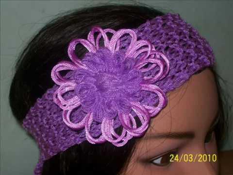 bandas para el cabello tejidas a crochet y dos agujas  PRIMAVERA / VERANO