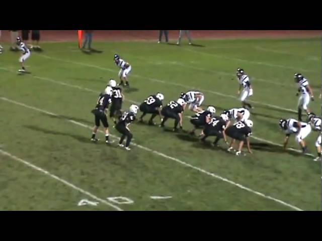 9-25-09 - Garrett Pape runs out of trouble and picks up 12 yards vs. Silver Creek
