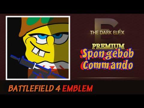 Battlefield 4 Emblem - Spongebob Commando ( PREMIUM )