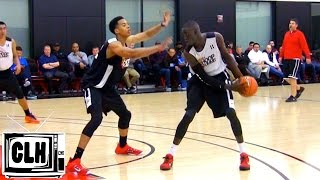 Thon Maker vs Skal Labissiere at Nike Hoop Summit in front of NBA Scouts