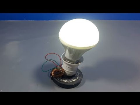Free Energy Electricity Generator using Magnet and copper wire 12v light Bulb 2018 thumbnail