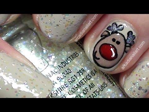 Cute Little Rudolph Nail Art Tutorial