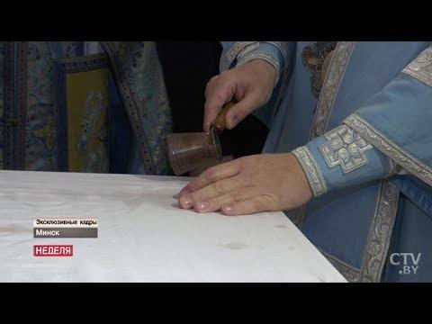 Съемочной группе СТВ показали алтарь Всехсвятского храма