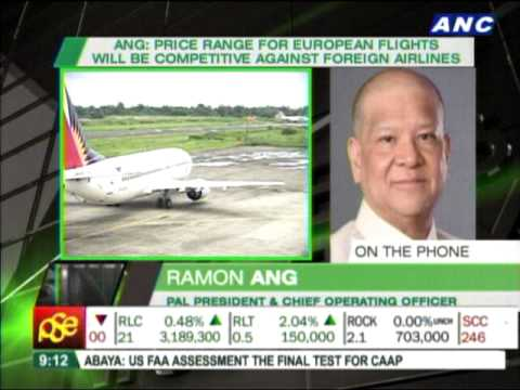Ramon Ang hopes PAL flights to Europe start by October