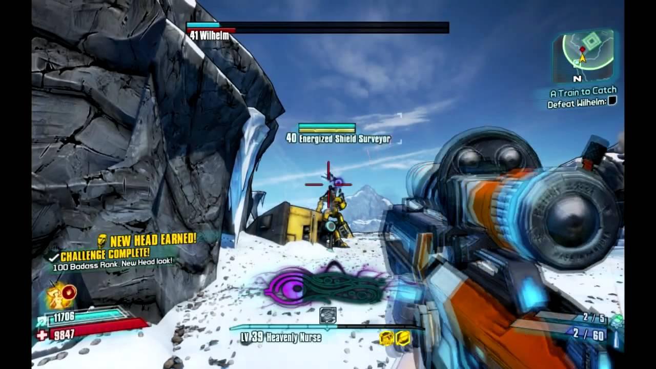 Borderlands 2 Wilhelm Boss  True Vault Hunter Mode  Solo