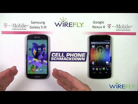Samsung Galaxy S III vs. Google Nexus 4 Schmackdown by Wirefly