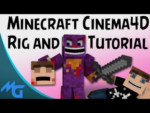 Minecraft Cinema 4D Rig and Tutorial!!!