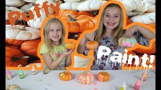 PUMPKIN PAINTING WITH PUFFY PAINT!!