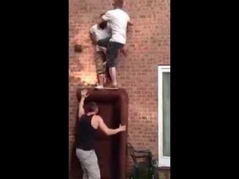 Man Knocks Fuck Out Of Himself Failed Climbing Attempt Little School Boy video