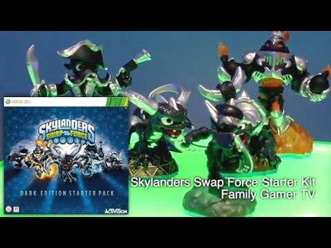 Unboxed Skylanders Swap Force Dark Edition Starter Pack - Blast Zone. Wash Buckler. Slobber Tooth