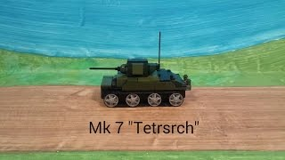 "лего танк. Mk7""Tetrsrch"" сборка..Lego tank. Mk7 ""Tetrarch"" assembly"