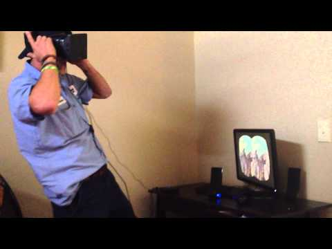 Brandon tries the Oculus Rift (roller coaster)