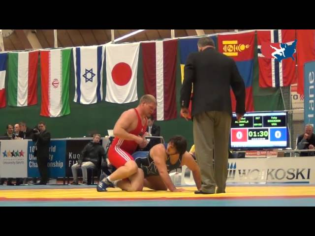 2012 UNIV WORLDS: Erickson (USA) dec. Allikma (EST), 120 kg Greco repechage