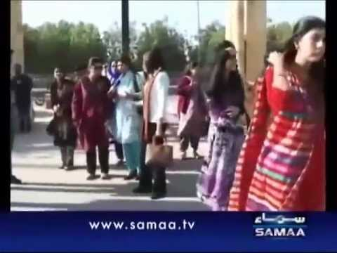 Karachi Maya Khan Catching Dating Couples-live On Samaa Tv video