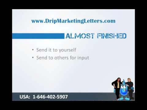 Drip Marketing Letters Blueprint Tutorial